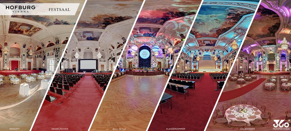 Hofburg Festsaal diverse Settings