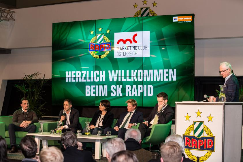 "Marketing Club Österreich ""Sportmarketing"" beim SK Rapid"