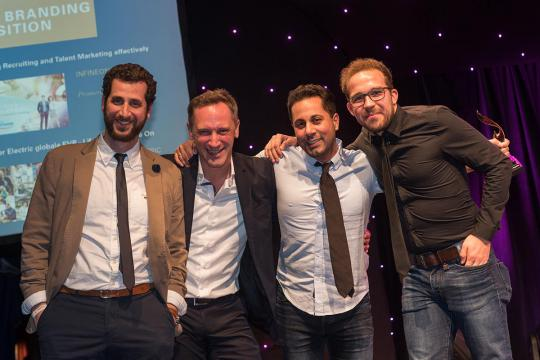 Martin Babry, Head of Marketing, Oliver Eger, Head of Client Relations, Jubin Honarfar, CEO und Co-Gründer, Michael Gaugl, Digital Marketing Manager (v.l.)