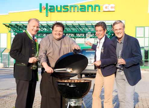 Gerhard Merdonik, Grillmeister Helmut Matauschek, Karin Strahner, Michael Brosmann