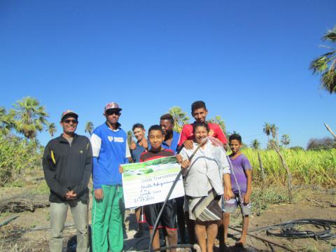 'Beweisfoto' für den Bau des SMILE-Brunnens in Brasilien