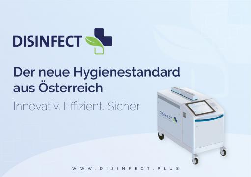 Das DCX-Gerät sorgt mit Trockendampf für eine effektive Dekontamination  © DISINFECT+