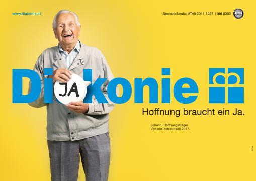 Kampagnen Sujet mit Hoffnungsträger Johann