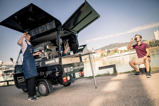 Espressomobil, ab sofort auch in Linz