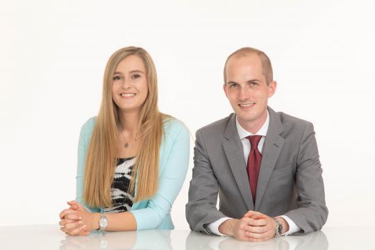 Nicole Grubeck, Christoph Blach - Kundenbetreuung AiGNER PR