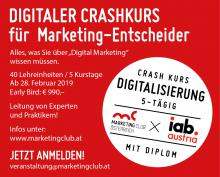 Crashkurs Digitalisierung für Marketing-Entscheider ab Februar 2019