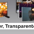 Auch Transparente, Banner, Roll Ups bieten wir an...