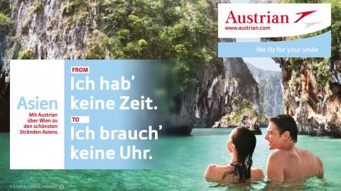 Neuer weltweiter Auftritt für Austrian Airlines