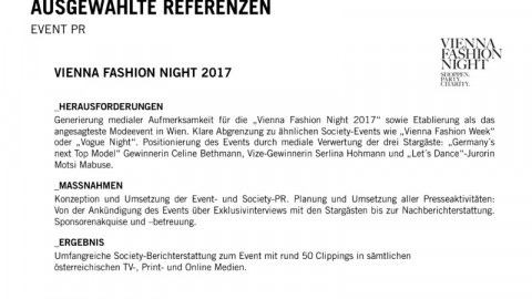 Vienna Fashion Night 2017