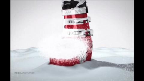 TV Skischuh im Schnee