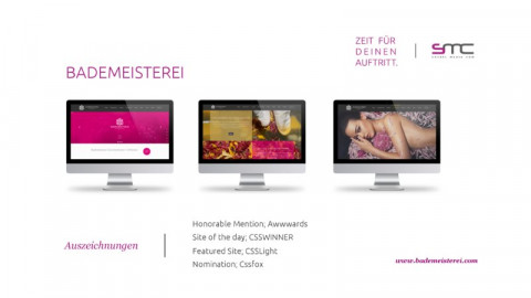 Bademeisterei Website & Shop