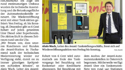 Regional-PR für Avanti Tankstellen-Eröffnungen und Tank-Aktionen