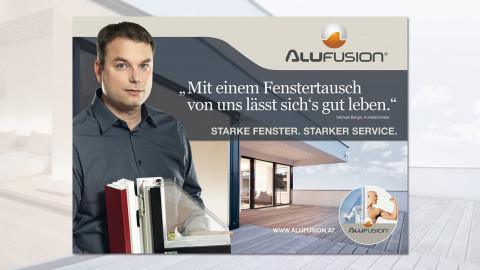 AluFusion. Starke Fenster. Starker Service.