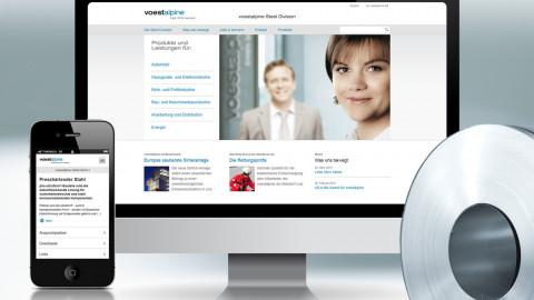 Website voestalpine Division Stahl
