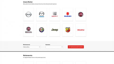 Website Markenauswahl