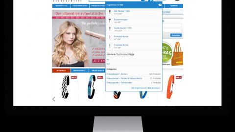 Conversion Optimierung / Optimierung der Online Shop Suche bei Domino Haarkosmetik