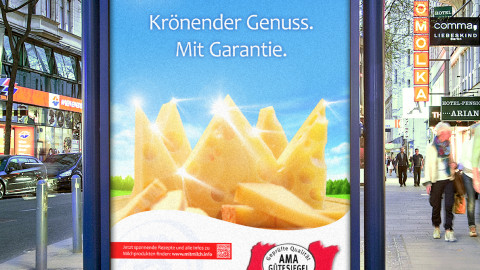 """AMA Jahreskampagne 2014 """"Krönender Genuss"""""""