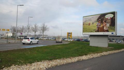 ARGE Heumilch Flughafen Plakat