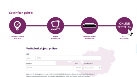 simpliTV - Onlineshop Skinning & Frontend Umsetzung