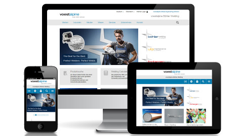 Website voestalpine Böhler Welding