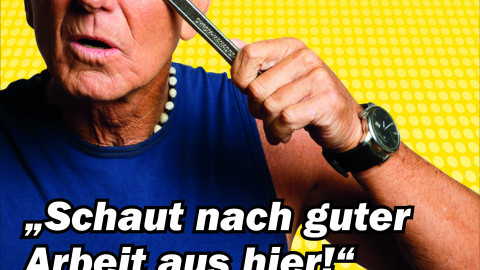 Imagekampagne mit Klaus Eberhartinger