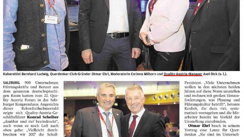 Jahres- und Veranstaltungs-PR-Betreuung Quality Austria