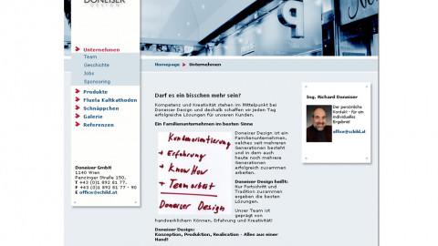 schild.at - Neue Website für Doneiser