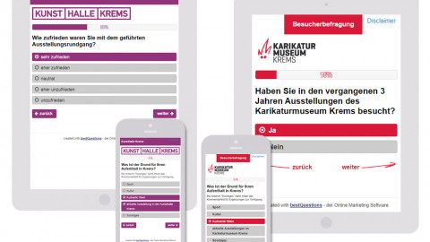 Kunstmeile Krems - Online Umfrage auf Smartphone und Tablet