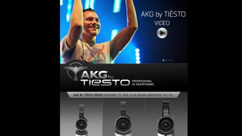 Landingpage für Kopfhörerserie by DJ Tiësto