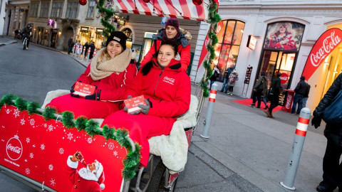 Coca Cola Weihnachts Pop Up Store