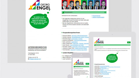 Georg Engel - Responsive Website