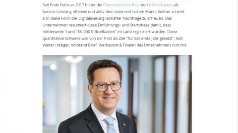 """Jahreskampagne """"Launch E-Brief"""" der Österreichischen Post"""