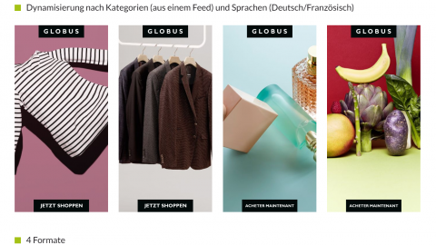 Globus dynamisches Kategorie-Remarketing mit Teaser-Creatives