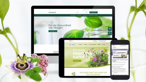 Konzept und Webdesign Apomedica und Markenseiten (Dr. Böhm,...)