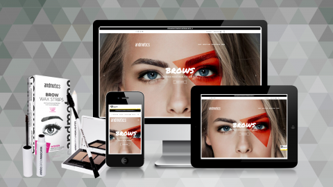 Website & Webshop für andmetics