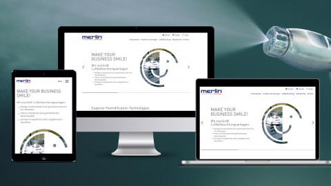 Website von Merlin Technology