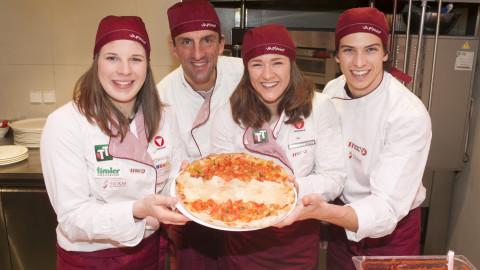 Innsbruck: Medaillen-Pizza
