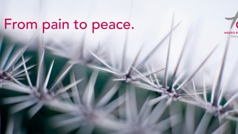 From pain to peace.