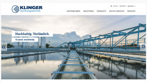 Klinger International Website - trusted worldwide