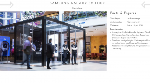 Samsung Galaxy S9 Tour