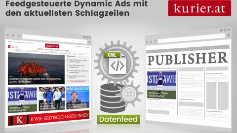 Kurier - Feedgesteuerte Dynamic-Ads mit den aktuellsten Schlagzeilen