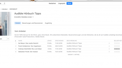 Audible Hörbuch Podcasts