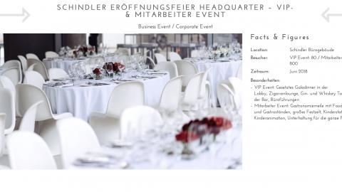 Schindler Eröffnungsfeier