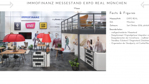 Immofinanz Messestand EXPO REAL