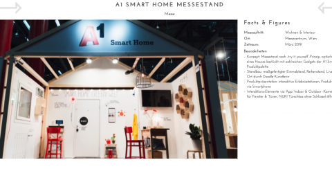 A1 Smart Home Messestand