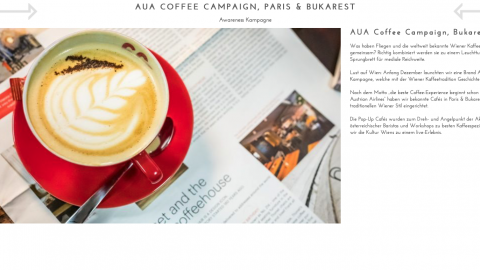AUA Coffee Campaign Paris & Bukarest