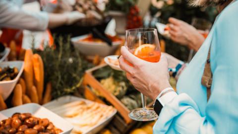 Fingerfood zum take awy an echten Marktständen