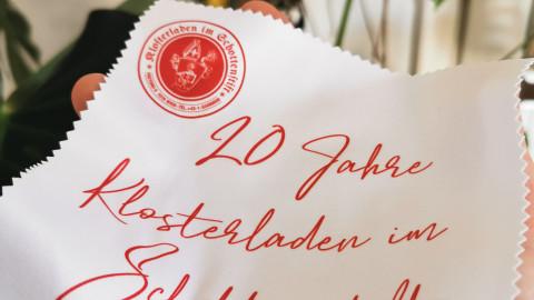 Brillenputztuch 20 Jahre Klosterladen im Schottenstift