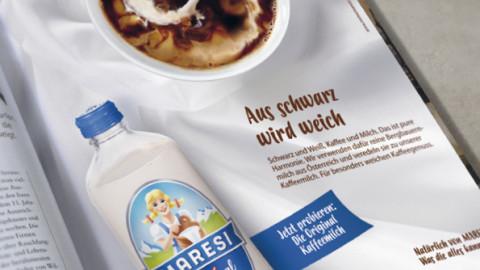 MARESI Kaffeemilch Kampagne