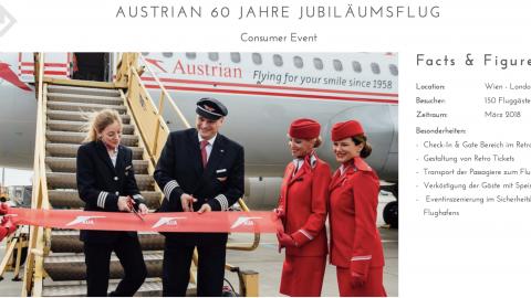 Austrian 60 Jahre Jubiläumsflug